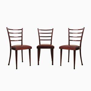 Stühle aus Mahagoni, 1950er, 3er Set