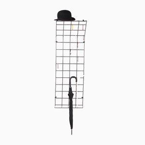Schwarze String Garderobe von Karl Fichtel für Drahtwerke Erlau, 1950er