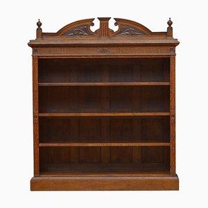 Libreria vittoriana in legno di quercia massiccio