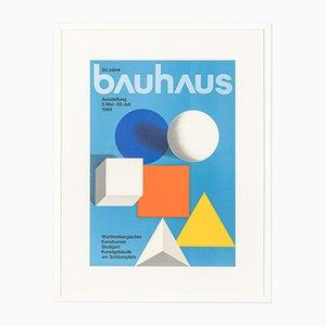 50 Jahre Bauhaus Poster von Herbert Wilhelm Bayer