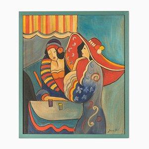 Expressionistisches Gemälde von Sara Hill