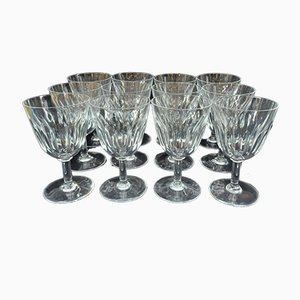 Crystal Cassino Glasses from Baccarat, 1960s, Set of 12