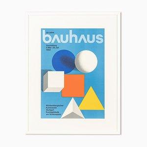 50 Years of Bauhaus Poster by Herbert Wilhelm Bayer