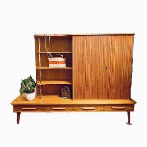 Mid-Century Sideboard oder Bücherregal aus Zebrano Holz im Stil von WK Moebel