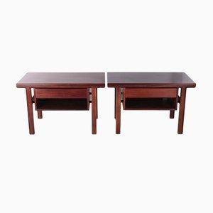 Scandinavian Bedside Tables by Arne Vodder, 1960s, Set of 2