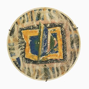 Hand Painted Ceramic Plato IV Wall Plate by Rosario Guillermo, Mexico, 1985