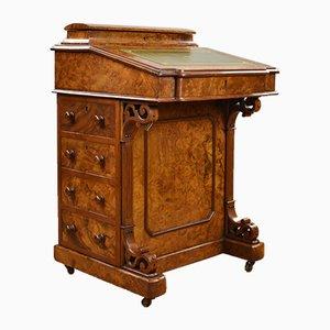Viktorianischer Davenport Schreibtisch aus Nusswurzelholz