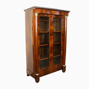 Biedermeier Bücherregal aus Mahagoni, 1850er