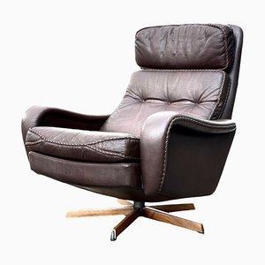 Danish Swivel & Rocking Lounge Chair by Aage Christiansen, 1960s