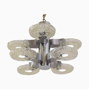 Nickel-Plated 8-Arm Chandelier, 1960s