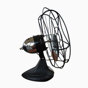 Escritorio esquimal industrial y ventilador de pared de Bersted Mfg. Co., USA, años 50