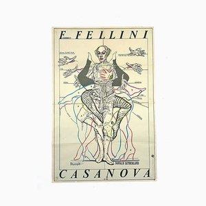 Original Movie Poster for Casanova by Federico Fellini, 1979