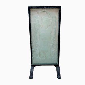 Glass Slab by Lauro Louis for Verart Paris, 1925