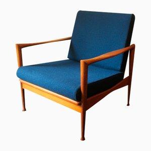 Skandinavischer Sessel aus Eschenholz, 1950er