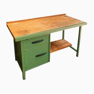 Industrielle grüne Werkbank oder Schreibtisch