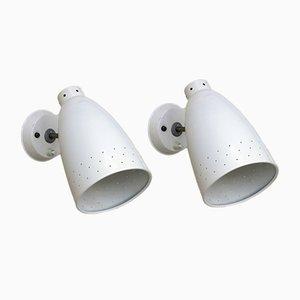 Mid-Century Wandlampen von Philips, 1950er, 2er Set