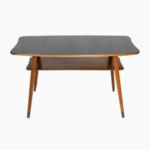 Mid-Century Coffee Table with Black Formica Top, 1950s