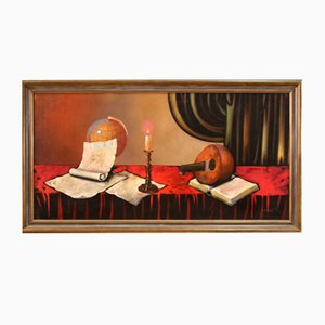 Bodegón, instrumentos musicales, siglo XX