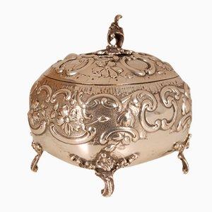 Art Nouveau Handcrafted Sterling Silver Casket, Austria