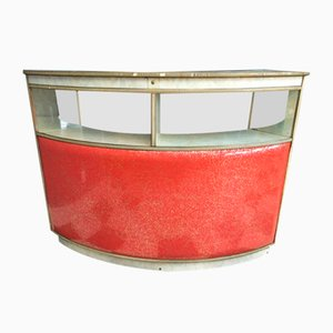 Red Vinyl House Bar from MCM, 1950s