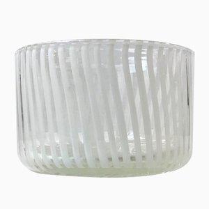 Murano Canne Art Glass Bowl from Venini