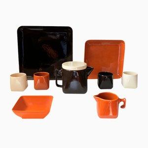 Ceramic Tea Service by Nanna Ditzel for Søholm, 1970s, Set of 9
