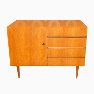Linen Chest of Drawers in Light Walnut, 1960s