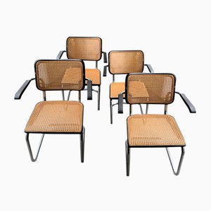 S 64 Cesca Armchairs by Marcel Breuer for Thonet, 1960s, Set of 4