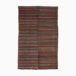 Mid-Century Turkish Dramatic Striped Kilim Rug, 1960s