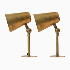 Vintage Adjustable Brass Wall Lights, Set of 2