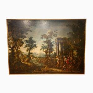 Rebecca am Brunnen, 18. Jahrhundert, Öl auf Leinwand