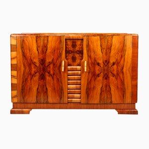 Art Deco Nussholz Sideboard, 1930er