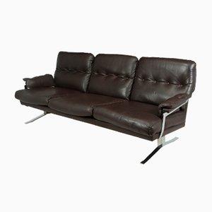 Mid-Century Sofa aus Chrom & Leder von Arne Norrell, 1960er