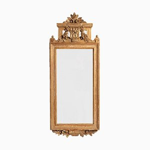 Gustavian Carved & Gilded Mirror, 1800s