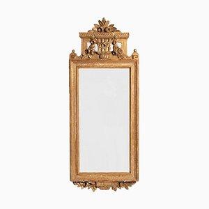 Gustavianischer geschnitzter & vergoldeter Spiegel, 1800er