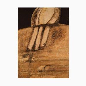 Uno Svensson, Mitte 20. Jh., Schwedische Abstrakte Komposition, Öl auf Karton