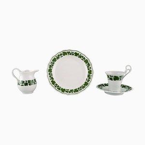 Servizio da caffè Ivy Vine Leaf in porcellana dipinta a mano di Meissen, set di 4