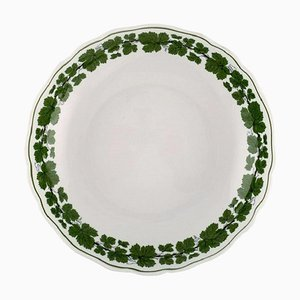 Green Ivy Vine Leaf Bowl in Hand-Painted Porcelain from Meissen, 1940s