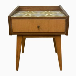 Mid-Century Scandinavian Bedside Table with Drawers
