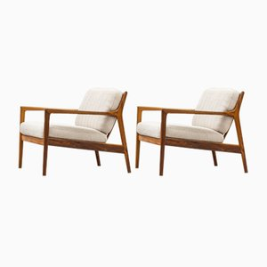 USA 75 Lounge Chairs by Folke Ohlsson for Dux, Set of 2