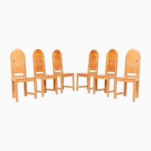 Schwedische Vintage Stühle aus massivem Kiefernholz von Sven Larsson Möbelshop
