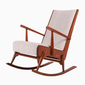 Mid-Century Modern Scandinavian Rocking Chair, 1950s