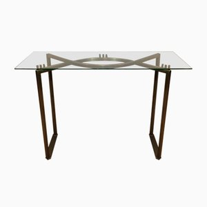 Brushed Steel Console Table