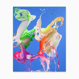 Karibischer Strand, abstraktes Gemälde, 2021