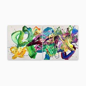 La Primavera, abstraktes Gemälde, 2021