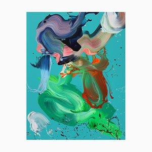 Mein Unbewusstes erwacht, abstraktes Gemälde, 2021