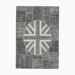 Tappeto patchwork con bandiera del Regno Unito