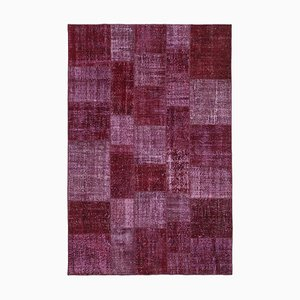 Tappeto patchwork rosso