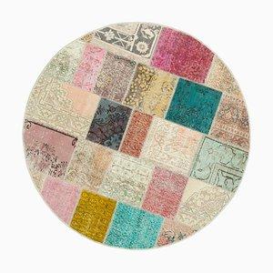 Tappeto rotondo patchwork multicolore