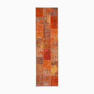 Tappeto patchwork arancione